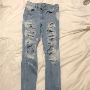 very light washed jeans